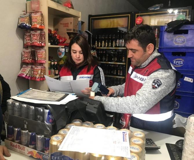 Erzurum İl Jandarma Komutanlığı'ndan sahte ve kaçak alkol denetimi
