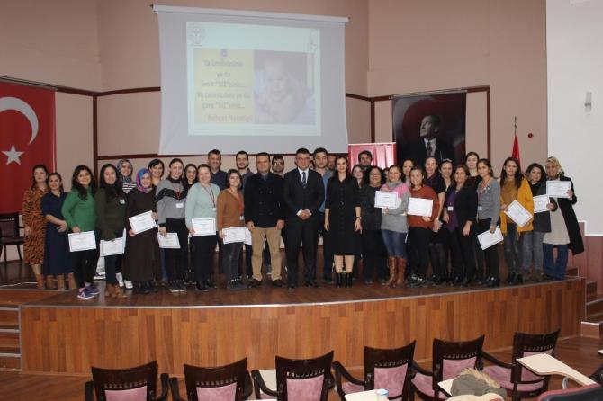 Yenidoğan canlandırma eğitimine katılanlar sertifikalandırıldı
