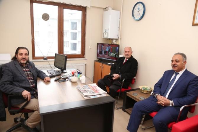 Başkan Akman'dan İHA'ya ziyaret