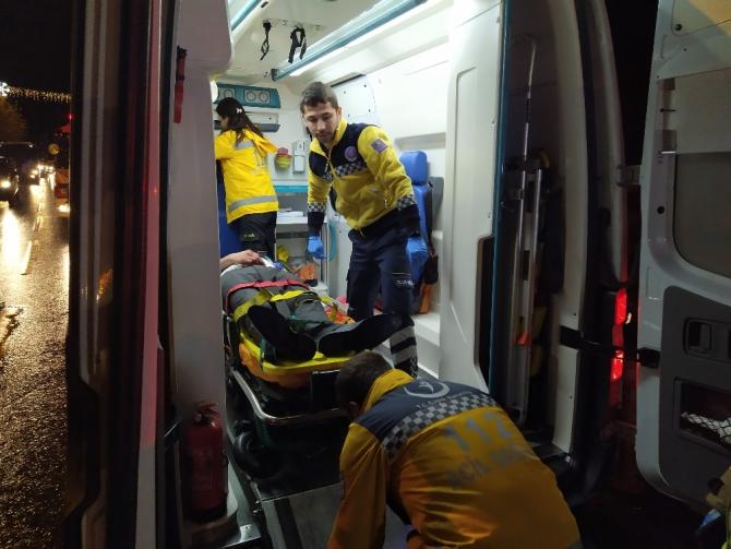 Beşiktaş'ta panelvan araç devrildi: 1 yaralı