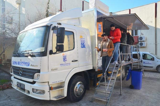 Didim Belediyesi öğrencilere çorba ikramına devam ediyor