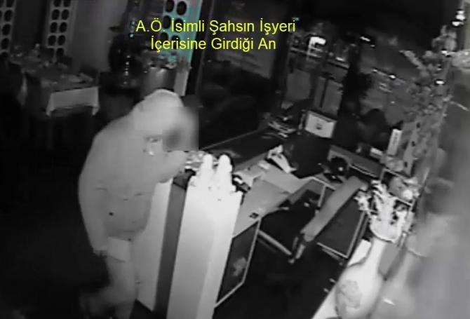 Hırsızlık şüphelisi önce kameraya sonra polise yakalandı