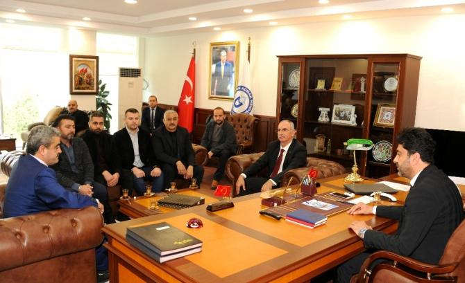 MHP İl Başkanı Alıcık, Rektör Aldemir'i ziyaret etti