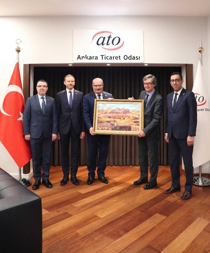 Avusturya Büyükelçisi Wimmer'dan ATO Başkanı Baran'a ziyaret