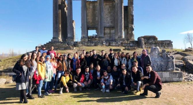 DPÜ KSBMYO öğrencileri için Aizanoi Antik Kenti'ne gezi