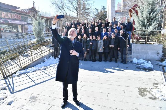 Isparta'daki gazeteciler 10 Ocak kahvaltısında buluştu