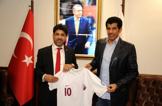 Katar Büyükelçisinden Rektör Aldemir'e ziyaret