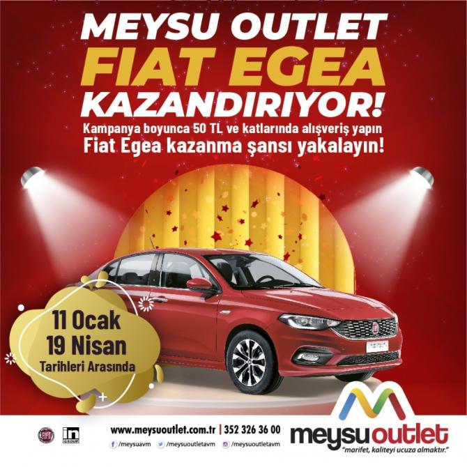 MEYSU Outlet Fiat Egea kazandırıyor