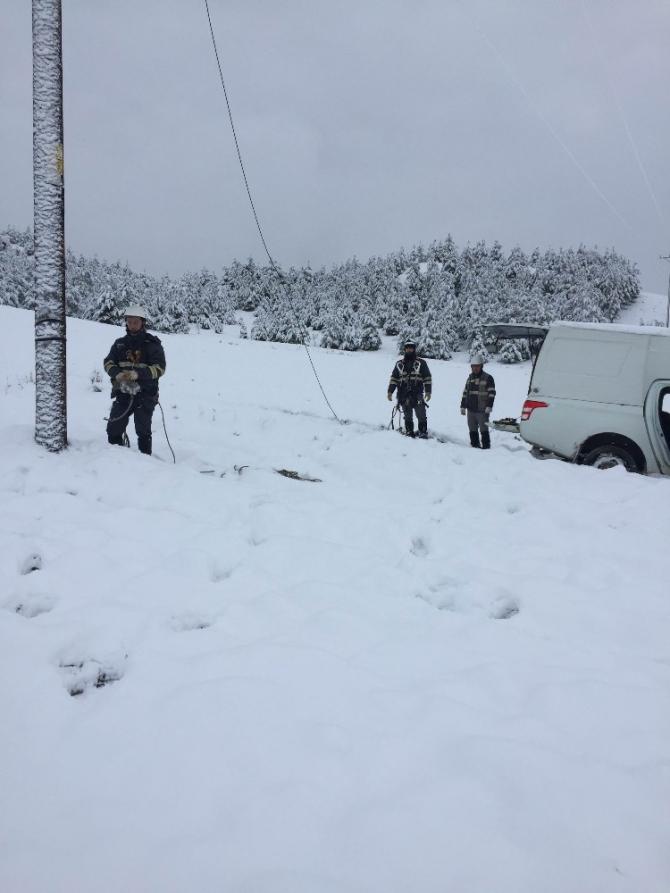 Toroslar EDAŞ Kış şartlarında çalışmalara devam ediyor