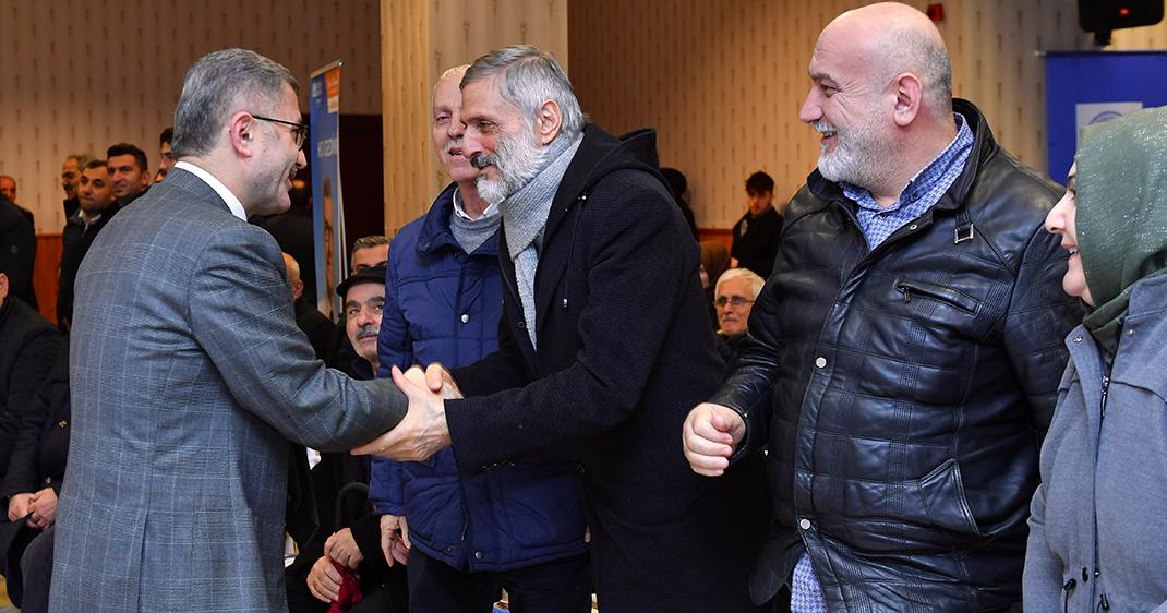 Üsküdar Belediye Başkanı Hilmi Türkmen'den Burhaniyeli komşularına ziyaret