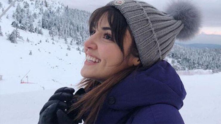 Hande Erçel ve sevgilisi Murta Dalkılıç soluğu Uludağ'da aldı