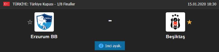 Erzurumspor Beşiktaş maçı ne zaman, saat kaçta, hangi kanalda?
