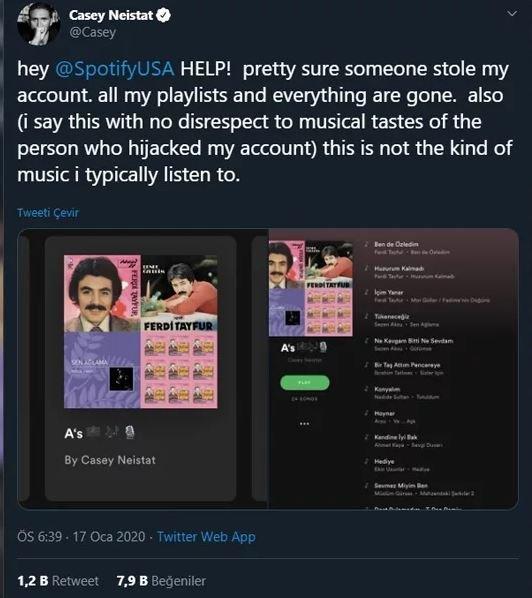 Ünlü YouTuber'ın hesabı Ferdi Tayfur hayranı tarafından hacklendi