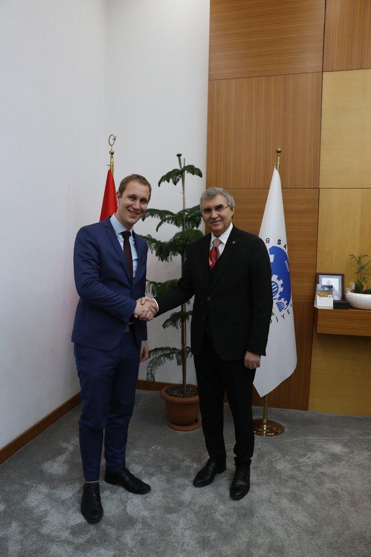 Alman Belediye Başkanı Zimmermann'dan Başkan Yüce'ye ziyaret