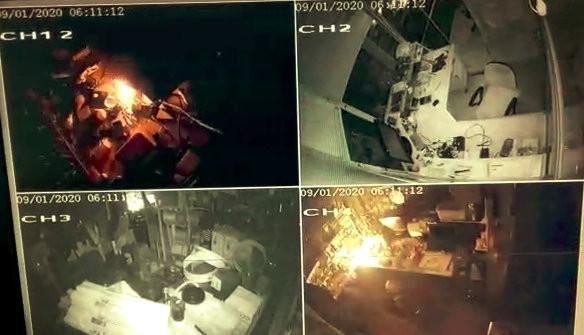 Şarjlı matkap bomba gibi patladı, tezgah savaş alanına döndü