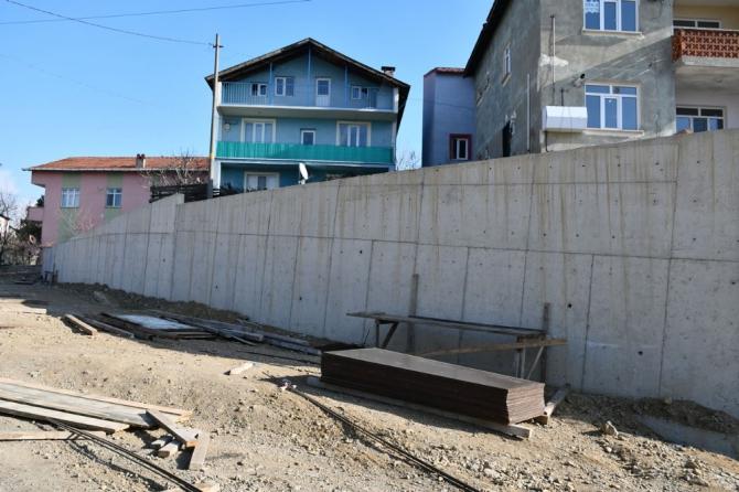 Karabük'te 10 yılda 4 kilometre istinat duvarı