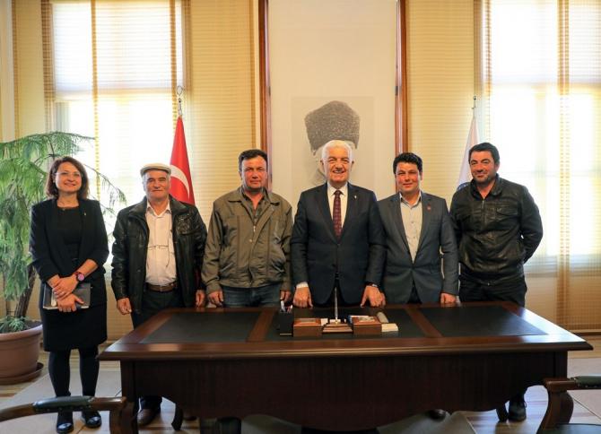 Süt üreticilerinden Başkan Gürün'e ziyaret