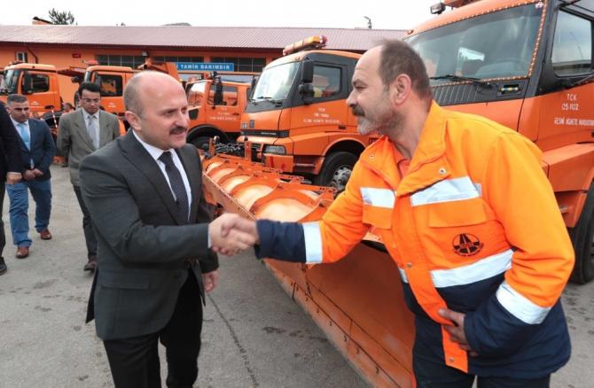 Vali Varol, karayolları tesislerini inceledi