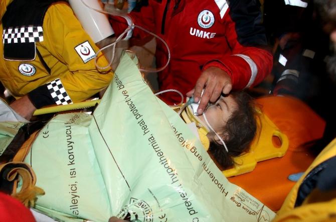 Küçük kız 24 saat sonra böyle kurtarıldı