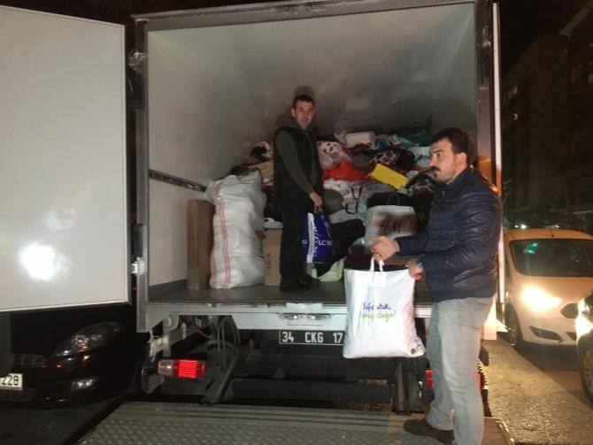 Fenerbahçeli taraftarlardan deprem bölgesine yardım