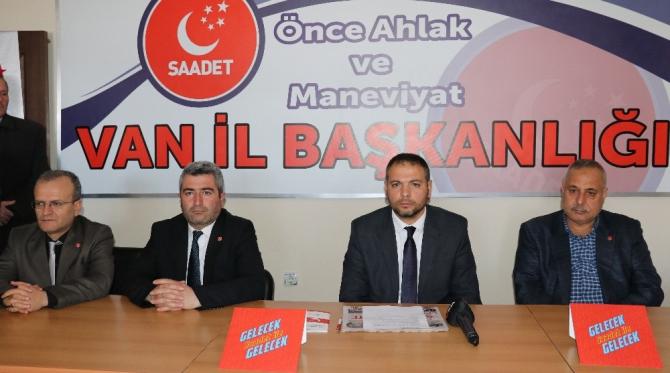 """SP Van İl Başkanı Özay İlhan: """"Gün birlik ve beraberlik günüdür"""""""