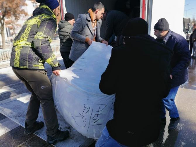 Erzurumlu öğrencilerden depremzedelere yardım eli