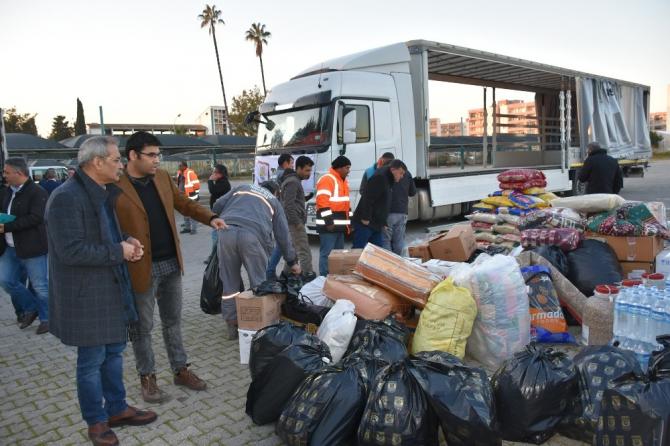 Tarsus Belediyesi depremzedeler için seferberlik başlattı