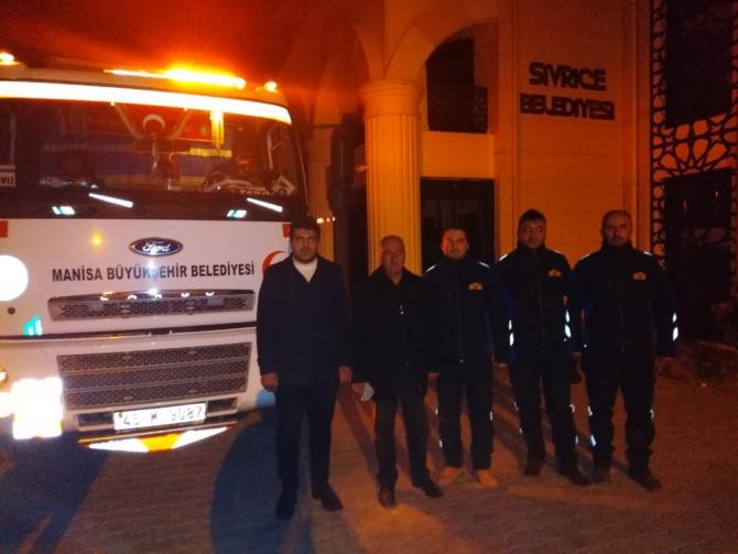 Manisa Büyükşehir Belediyesinin yardım tırı Sivrice'ye ulaştı