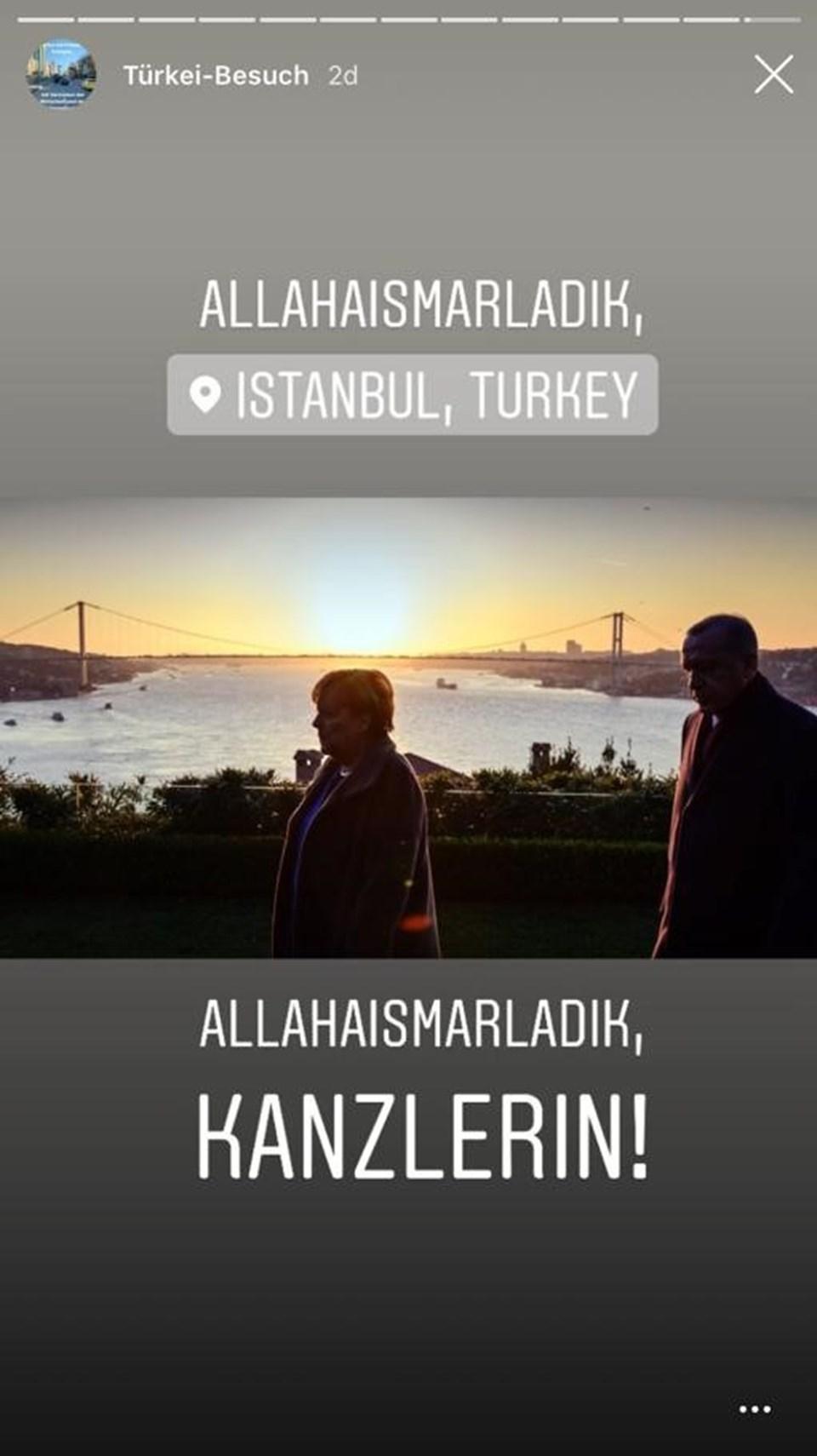 """Merkel'den dikkat çeken İstanbul paylaşımı: """"Allahaısmarladık"""""""