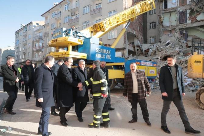 Şanlıurfa heyeti deprem bölgesinde