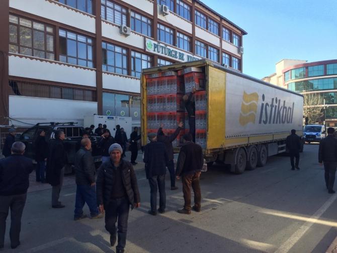 Kayseri'deki Odaların Yardım Tırları Deprem Bölgesine Ulaştı
