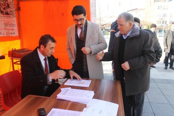 Manyas'ta İdlip için yardım kampanyası başlatıldı