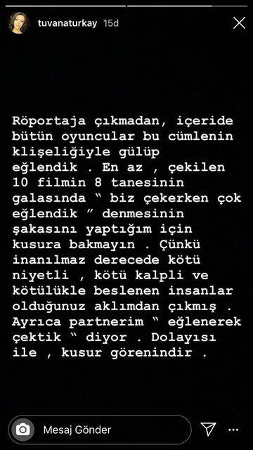 Tuvana Türkay'ın galada söyledikleri sosyal medyada paylaşım rekorları kırdı