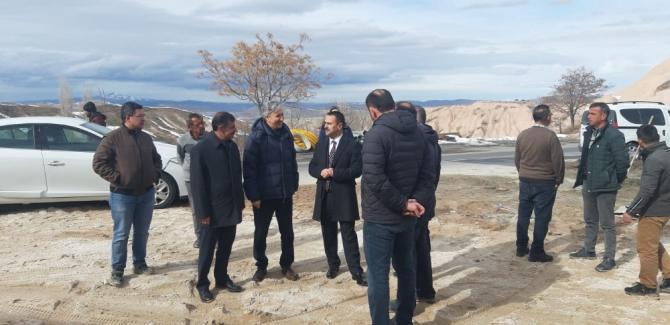 Vali Aktaş, Uçhisar'da Cevizli projesini inceledi