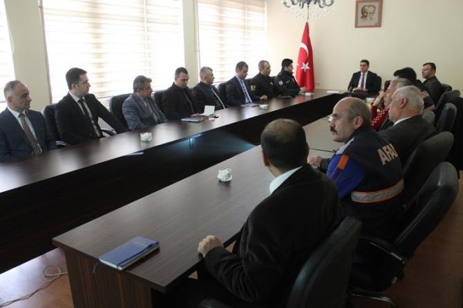 Göynücek'te Afet Müdahale Toplantısı yapıldı