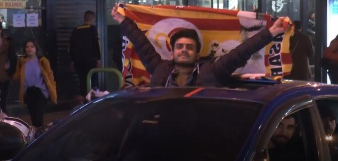 Galatasaray'ın galibiyeti Gaziantep'te coşkuyla kutlandı