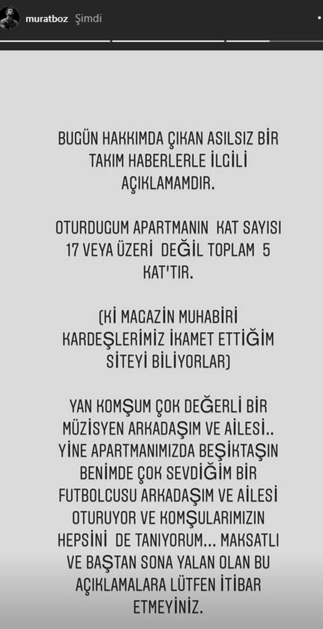 Murat Boz'dan Caroline Yılmaz'a cevap