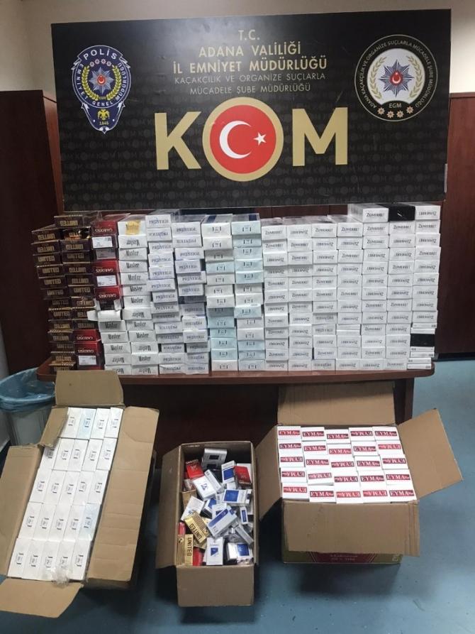 Adana'da 4 bin 410 paket kaçak sigara ele geçirildi