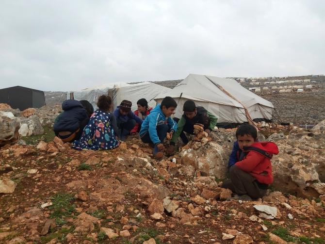 Suriye'de 500 bin çocuk yerinden edildi