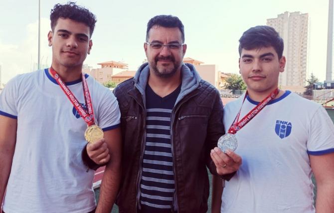 Aydınlı sporculardan çifte madalya
