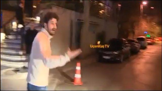 Buğra Gülsoy'un doğu gününde muhabirlere saldırıldı