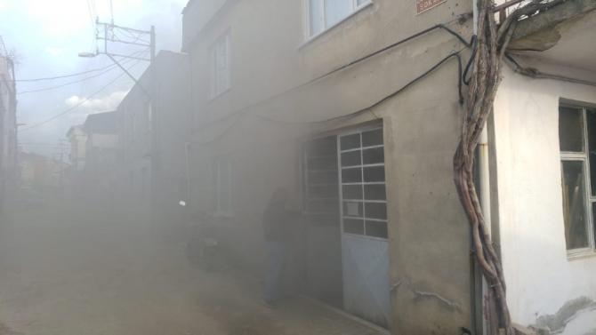 Bursa'da mobilya atölyesinde yangın