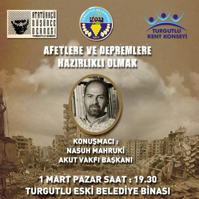 Nasuh Mahruki Turgutlu'da konferans verecek