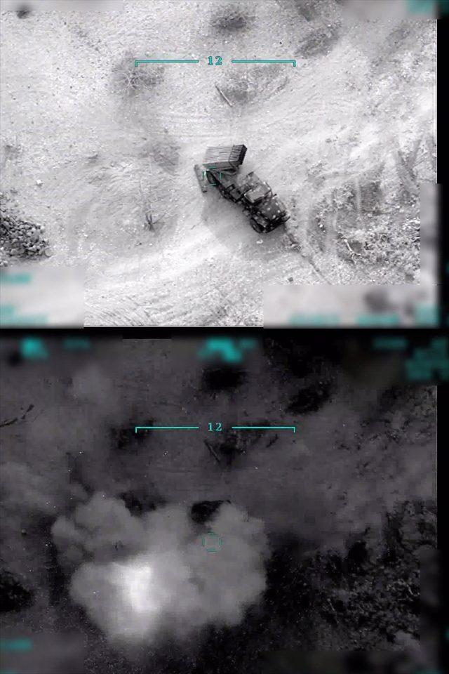 TSK'nın Esed rejimini vurduğu anlara ait görüntüler!
