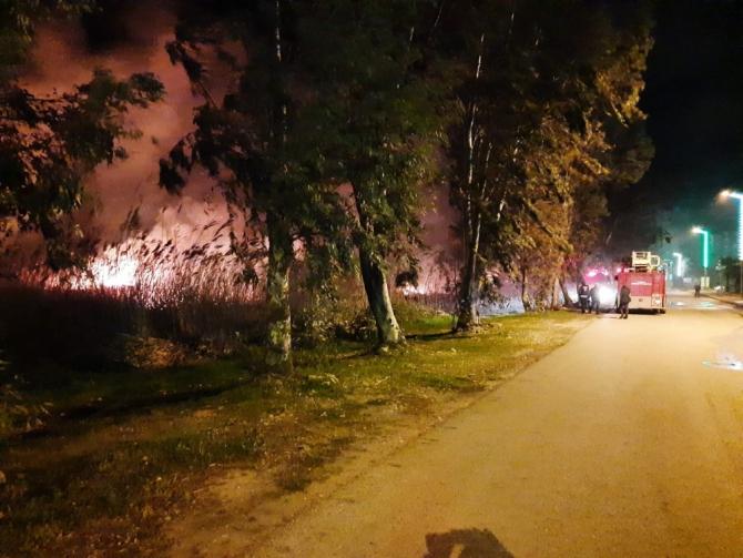 Serik'te sazlık alan yangını kısmen kontrol altına alındı