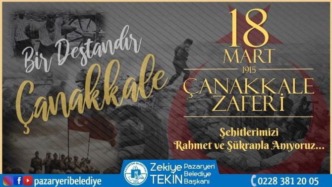 Başkan Tekin'den 18 Mart Çanakkale Zaferi mesajı