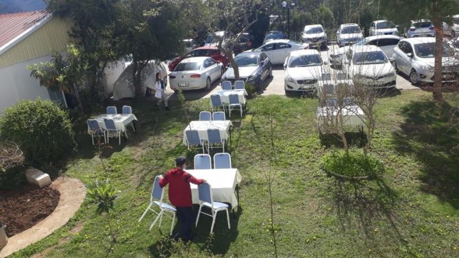 Marmaris Devlet Hastanesi'nde Korona virüse karşı koruyucu önlemler arttırıldı