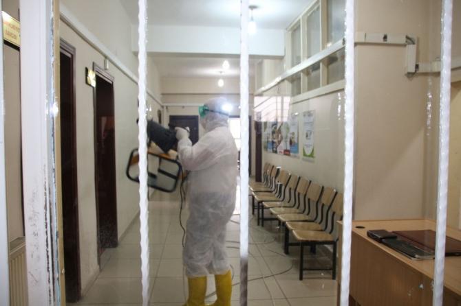 Varto'da dezenfekte çalışması