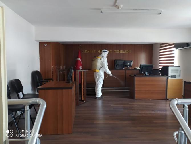 Sinop Adliyesi'nde korona virüsü önlemleri
