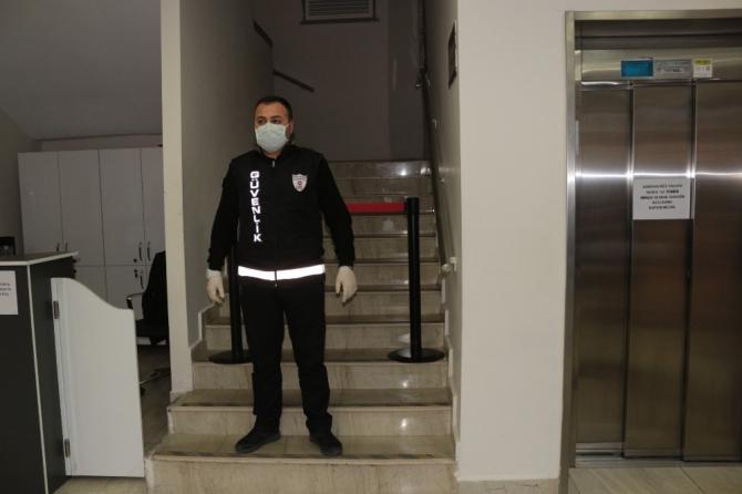 Belediye binasına koronavirüs tedbiri